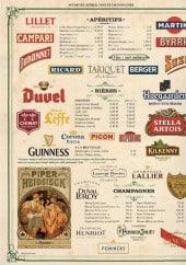 Menu Café Brun - Les apéritifs , bières,....
