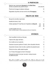 Menu Café des arts - Les planches de fromages, fruits de mer,...