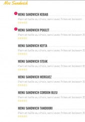 Menu El Dorado - Sandwich