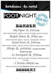 Menu Food Night - Burgers, desserts et divers