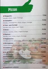 Menu L'As de la Pizza - Les pizzas