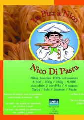 Menu La pizza a Nico - Carte et menu La pizza a Nico Bordeaux