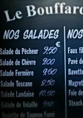 Menu Le Bouffard Café - Les salades et les grillades
