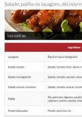 Menu Livraison-pizza - Les salades, lasagnes et paëllas