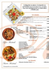 Menu Marhaba - La carte