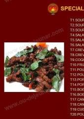 Menu Restaurant Gourmet d'Asie - Les Spécialités Thailandaises