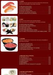 Menu Restaurant Gourmet d'Asie - Cuisine Japonaise