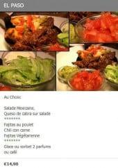 Menu Saveur Latine - Le menu el paso