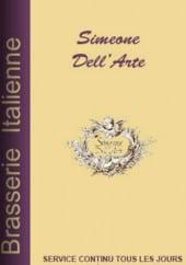 Menu Simeone Dell'Arte - Carte et menu Simeone Dell'Arte, Bordeaux