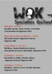 Menu Wok Up - Les spécialités thaïlandais et d' ailleurs