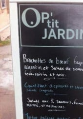 Menu O P'tit Jardin - Exemple de menu