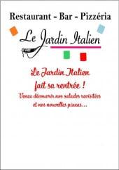 Menu Le Jardin Italien - Carte et menu Le Jardin Italien Martignas sur Jalle
