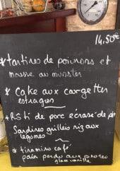 Menu Le Bistroquet - Exemple de menu