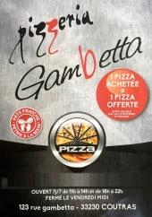 Menu Pizzeria Gambetta - Carte et menu Pizzeria Gambetta Coutras