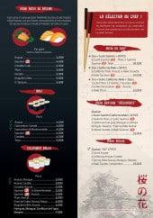 Menu Yumi Sushi - Nigiris sushis, maki, california rolls,...