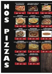 Menu Chez Boga - Pizzas