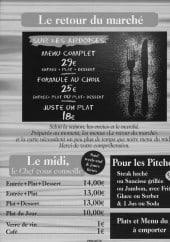 Menu Le Bistrot du Centre - ardoises,...