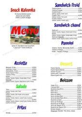 Menu Snack Kaleenka - Les assiettes salades, desserts...