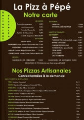 Menu La Pizz À Pépé - Les entrées, viandes, salades...
