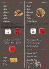 Menu Sen'sas - Les sandwiches, plats, suppléments,...