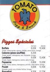 Menu Tomato - les pizzas spéciales