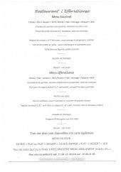 Menu L'EffervéSanse - menu gourmet,..