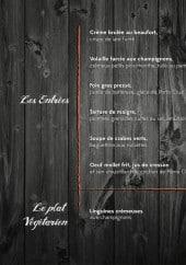 Menu Escalumade - Les entrées et plat végétarien