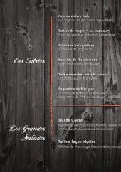 Menu Escalumade - Les entrées suite et grandes salades