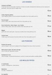 Menu Le Bon Duc - Les viandes, poissons et moules frites