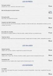 Menu Le Bon Duc - Les entrées, salades et burgers