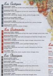 Menu Appia Pizza - Les pizzas et boissons