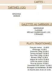 Menu La table de charbon-blanc - Les tartes, salades, galettes sarrazin et plats traditionnels