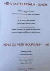 Menu Le Bourgailh - Menus