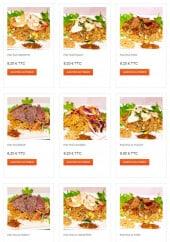 Menu Thaï Paradise - Les plats