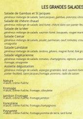 Menu L'Incontournable - Les grandes salades et omelettes