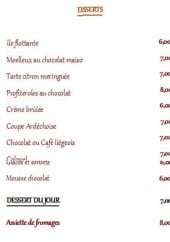 Menu Le Baron Gourmand - Desserts