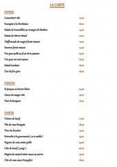 Menu Le Baron Gourmand - Entrées, poissons et viandes