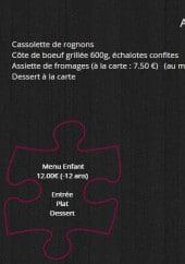 Menu Auberge du Petit Nice - Les menus à la carte et les formules