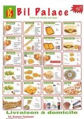 Menu Bil palace - Les kebab, paninis,....