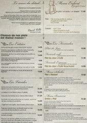 Menu Brasserie Scholler - Entrées, viandes,formules,....