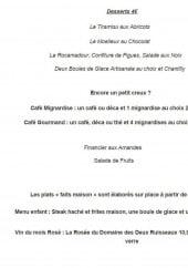Menu Chez Barth - Les desserts