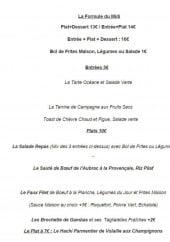 Menu Chez Barth - Les entrées et plats