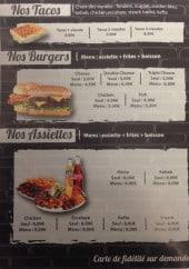 Menu Le 7 Sept - Tacos, burgers et assiettes