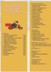 Menu Le Bayon - Entrées, plats, desserts,....