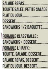 Menu Le Hangar - Les salades, formules...