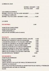 Menu Le Troc-Quai - Le menu du jour. les formules express à 12€...