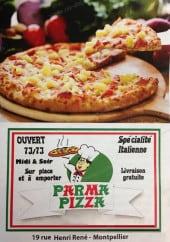 Menu Parma pizza - La carte et menu de Parma pizza 34 à Montpellier