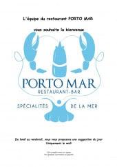 Menu Porto Mar - Carte et menu Porto Mar Frontignan