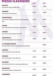 Menu La massilia - Pizzas classiques