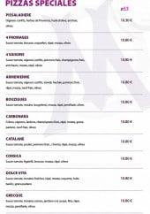 Menu La massilia - Pizzas spéciale
